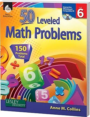 50 Leveled Math Problems w/CD, Level 6