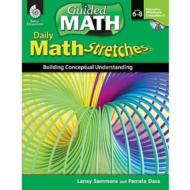 Shell Education Daily Math Stretches Book - Building Conceptual Understanding, Levels 6-8 (SEP50787)