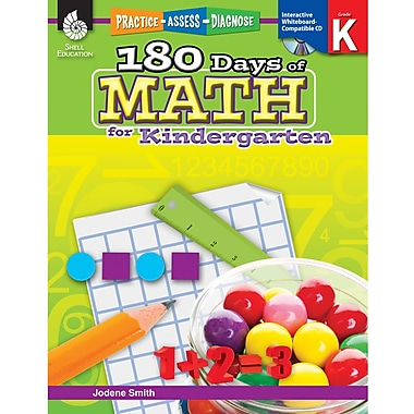 Shell Education® 180 Days of Math - Practice, Assess, Diagnose, Grades Kindergarten