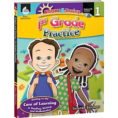 Shell Education® Bright and Brainy Practice Book and CD, Grades 1st