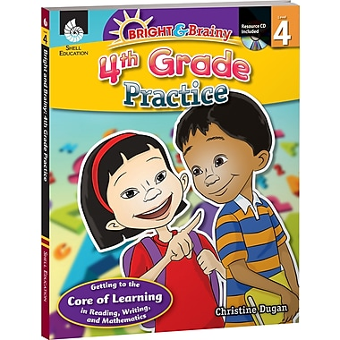 Shell Education® Bright and Brainy Practice Book and CD, Grades 4th