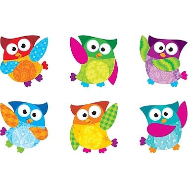 Trend - Découpe décorative mini hiboux, 3 po, multicolore, 216/paquet (T-10880)