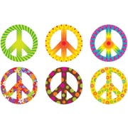 """TREND T-10983 6"""" DieCut Classic Peace Signs Patterns Accents, Multicolor"""