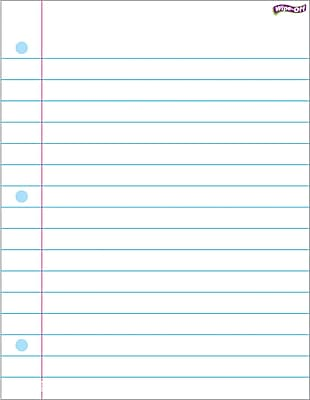 TREND Enterprises T-27308 Miscellaneous Notebook Paper Wipe Off Chart