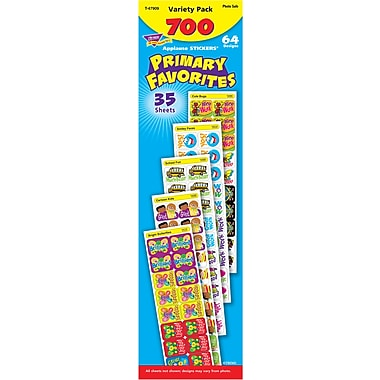 Primary Favorites Variety Pack Applause Stickers, 700/pkg
