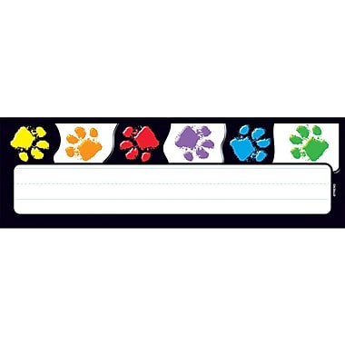 Trend Enterprises® Pre Kindergarten - 4th Grades Name Plate, Paw prints