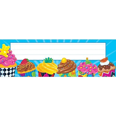 Trend Enterprises® Pre Kindergarten - 4th Grades Name Plate, Cupcakes
