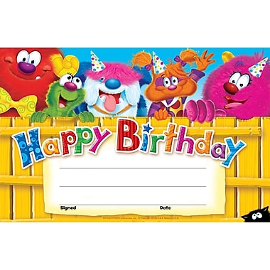 Happy Birthday (Furry Friends™) Recognition Awards 30/Pkg