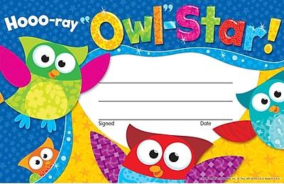 Hooo-ray Owl-Star! Recognition Awards 30/Pkg
