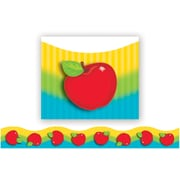 """TREND T-92352 39' x 2.25"""" Scalloped Shiny Red Apples Terrific Trimmer, Multicolor"""