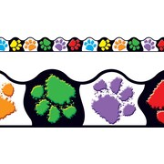 Trend Enterprises® Pre Kindergarten - 9th Grades Scalloped Terrific Trimm, Paw Prints