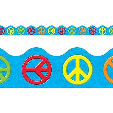 Trend Enterprises® Pre Kindergarten - 9th Grades Scalloped Terrific Trimm, Peace Signs