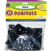 Teacher Created Resources® Foam Dominoes, Black