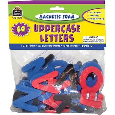 Teacher Created Resources Magnetic Foam Uppercase Letters, Grades Pre School+, 80/Pack (TCR20618)