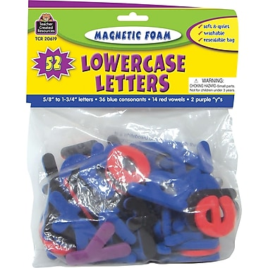 Teacher Created Resources Magnetic Foam Lowercase Letters, Grades Pre School+, 80/Pack (TCR20619)