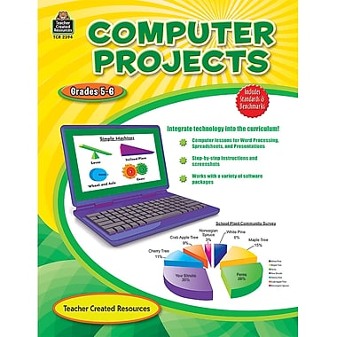 Teacher Created Resources Computer Projects Resource Book, Grade 5 - 6 (TCR2394)
