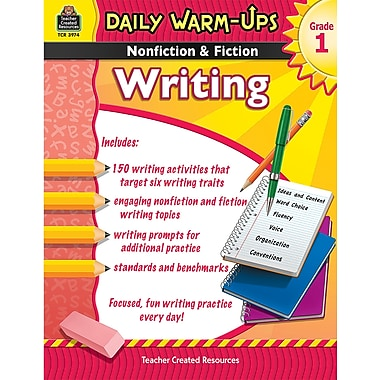 Teacher Created Resources® Daily Warm Ups Nonfiction and Fiction Writing Book, Grades 1st