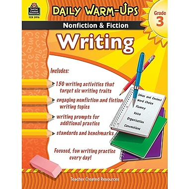 Teacher Created Resources Daily Warm Ups Nonfiction and Fiction Writing Book, Grade 3 (TCR3976)