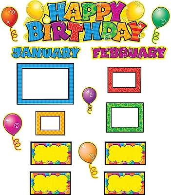 Happy Birthday Mini Bulletin Board 16x5-1/2