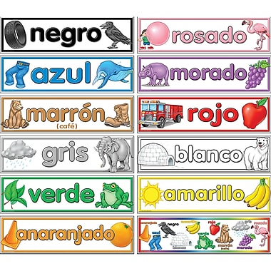 Teacher Created Resources® Headliners, Colors Spanish