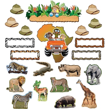 Teacher Created Resources – Ensemble à babillard, safari, 51/paquet (TCR5221)