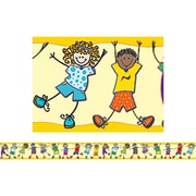 "Teacher Created Resources TCR5245 35"" x 3"" Straight Kids Border Trim, Multicolor"