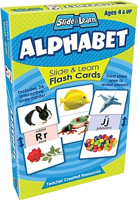 Teacher Created Resources® Alphabet Slide & Learn Flash Cards, Grades Babies/Toddlers-Kindergarten
