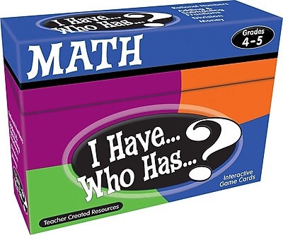 Teacher Created Resources® I Have, Who Has Math Game, Grades 4th - 5th