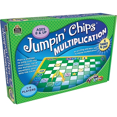 Teacher Created Resources® Jumpin Chips Multiplication Game, Grades 2nd - 5th