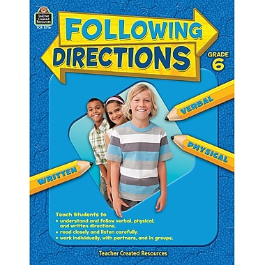 Teacher Created Resources Following Directions Book, Grades 6th