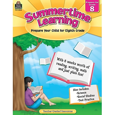 Teacher Created Resources Summertime Learning Book, Grade 8 (TCR8848)