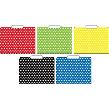 Top Notch Teacher Products Polka Dots File Folder, 3rd Cut, 24/Pack (TOP3304)