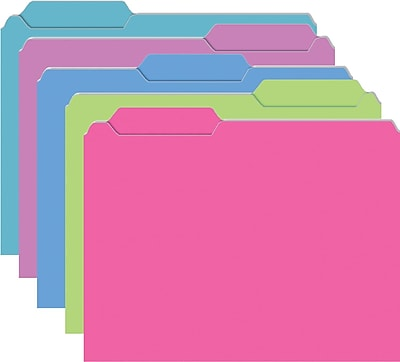 Brite Assorted Mini File Folders, Galactic Assorted, 10/pkg