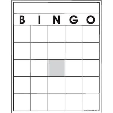 Top Notch Teacher Products – Cartes de Bingo vierges, paq./108 (TOP3520)