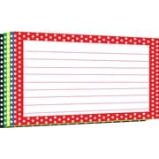 "Top Notch Teacher Products® 4"" x 6"" Lined Border Index Card, Polka Dot"