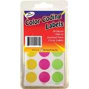 Pencil Grip™ Neon Circle Labels, 180/PK, 12 PK/BD