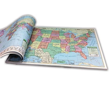 Kappa Map Group/Universal Maps U.S./World Combo Study Pad, 12