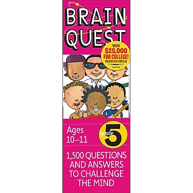Workman Publishing Brain Quest Book, Grade 5, 2/Pack (WP-16655)