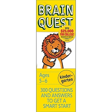 Workman Publishing Brain Quest Book, Grades Kindergarten