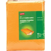"Staples Peel-and-seal #2 Bubble Mailer, 8 1/2"" x 11"", Manilla, 12/Pack (27193-US/CC)"