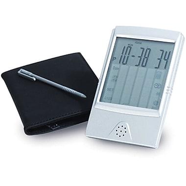 Natico – Réveil de voyage numérique à écran tactile avec calculatrice, argenté mat (10-662)