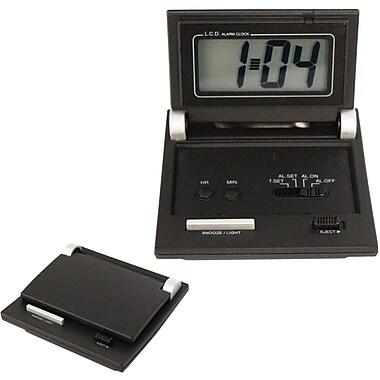 Natico 10-C105 Digital LCD Travel Clock, Black