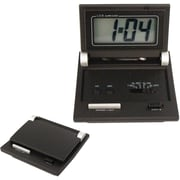 Natico 10-C105 Digital LCD Travel Clock, Black
