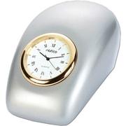 Natico 10-P792 Analog Tron Desk Clock, Pearl Silver