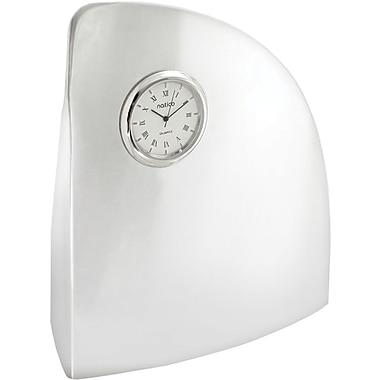 Natico Wave Desk Clock, Silver