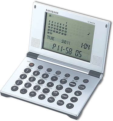 Natico Silver Multi Functional Alarm Clock With Databank