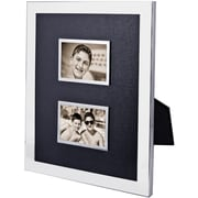 "Natico Polished Silver Double Photo Frame, 2"" x 3"""