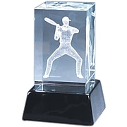 Natico Crystal 3-D Baseball Player Sculpture
