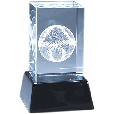 Natico Crystal 3-D Baseball Sculpture