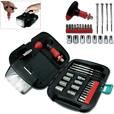 Natico 25 Pieces Metal Tool Kit